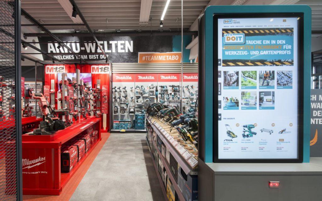 Let's DoIt Markt mit Digital Signage realisiert von Umdasch (Foto: Umdasch)
