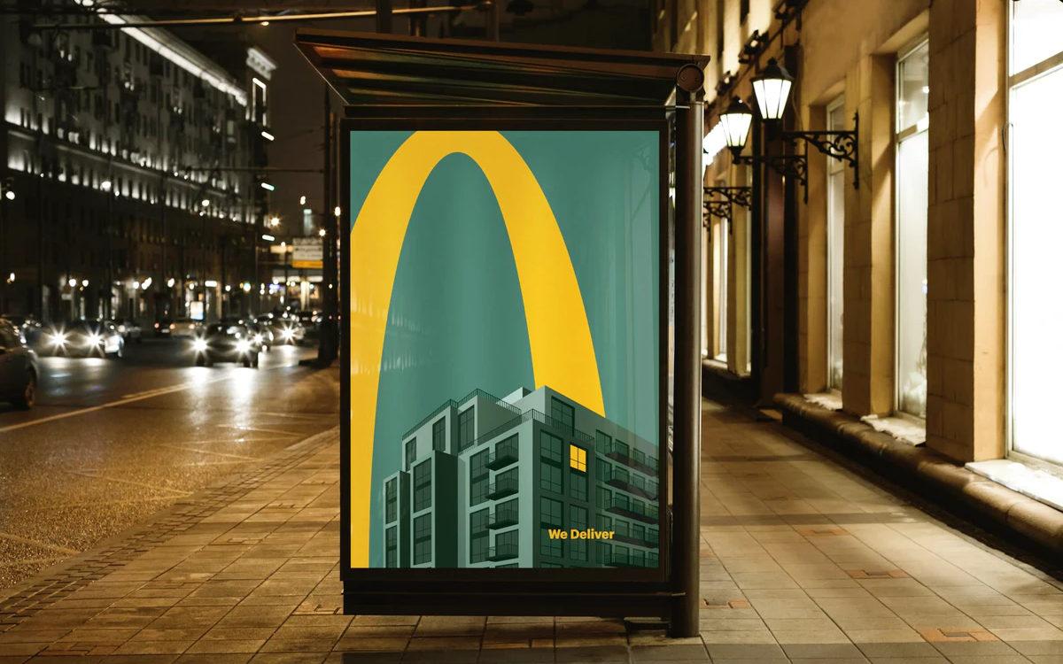"""Die minimalistische """"We Deliver""""-Kampagne von McDonalds in UK (Foto: Leo Burnett)"""