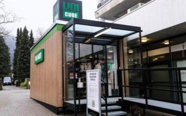 """Klein und rund um die Uhr geöffnet: Der """"Voi Cube"""", die erste Mini-Filiale von Migros in der Schweiz (Foto: Migros Aare / Michèle Büschi)"""