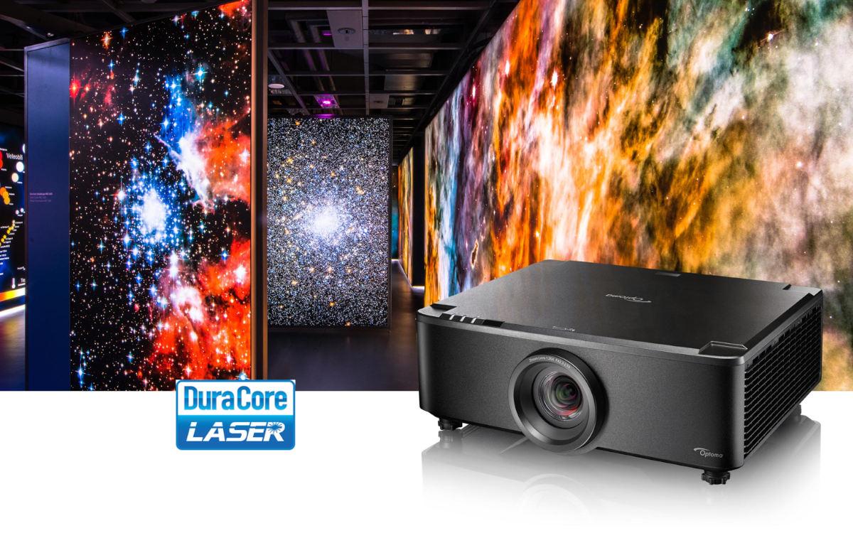 Der ZU720TST von Optoma ist laut Hersteller der weltweit erste Kurzdistanz 7.000 Lumen WUXGA Laserprojektor mit Festlinse (Foto: Optoma)