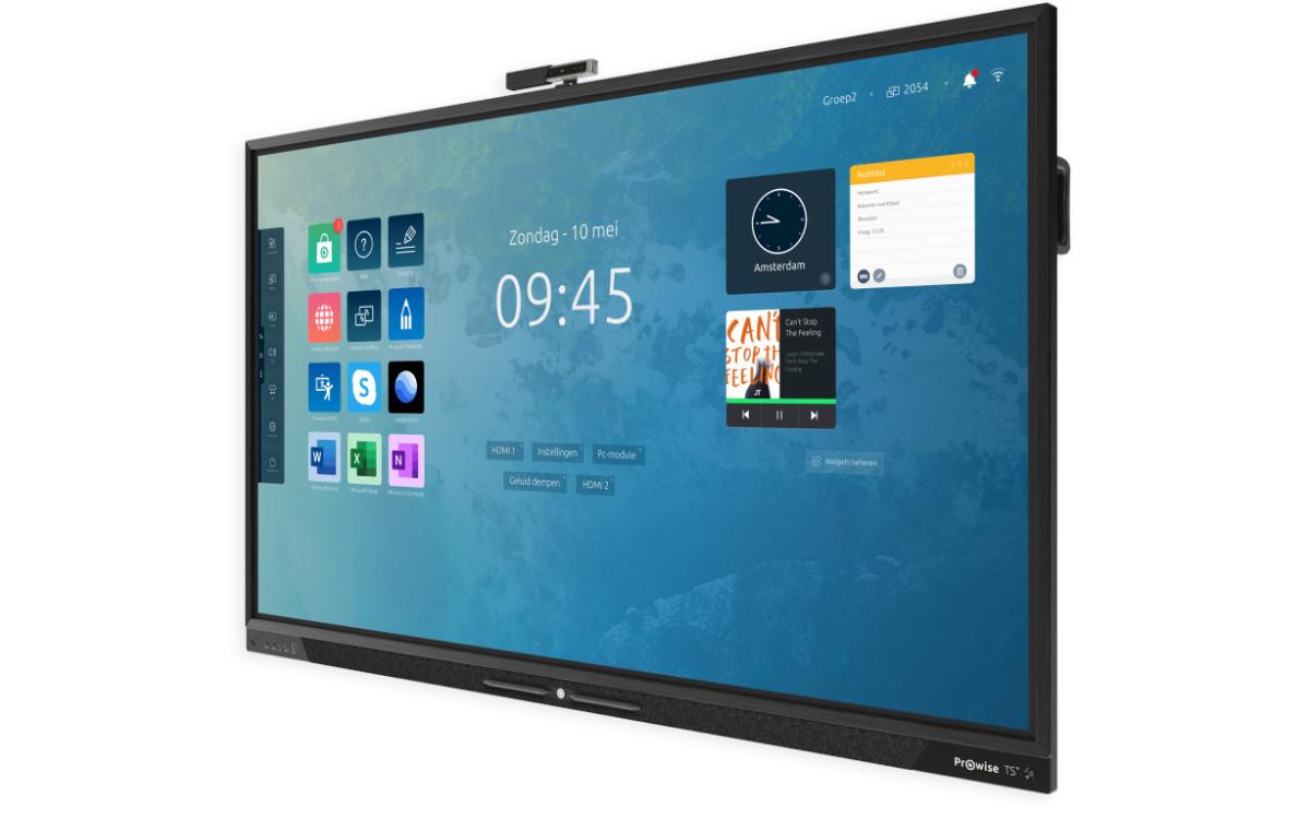 Der Touchscreen Ten von Prowise eignet sich für interaktiven Fern- und Präsenzunterricht (Foto: Prowise)