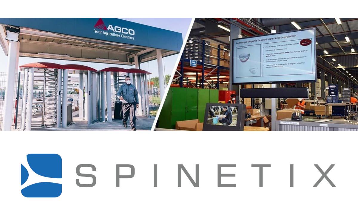 Agrartechnik-Hersteller AGCO setzt in seinem größten Europa-Standort in Frankreich auf Digital-Signage Lösungen von SpinetiX (Foto: SpinetiX/AGCO)