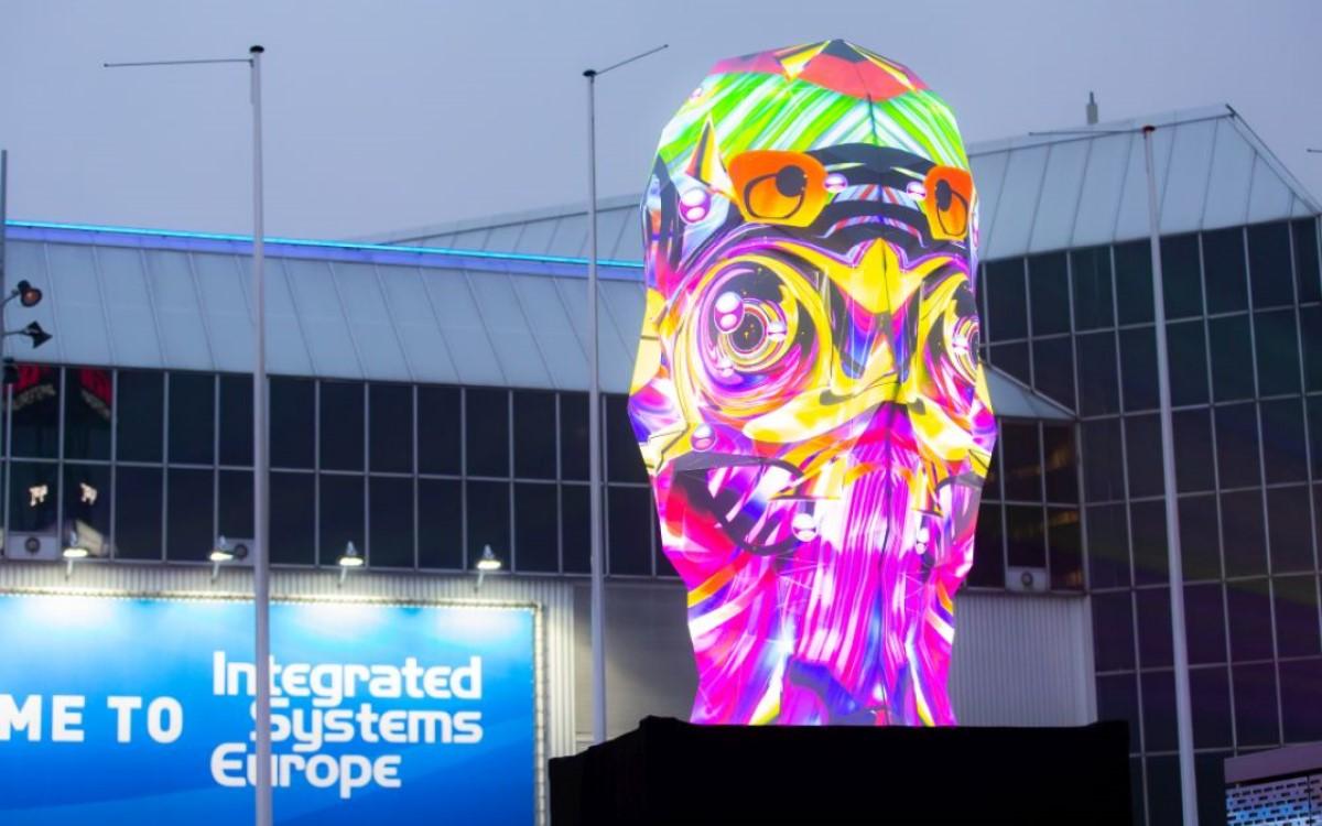 2019 feierte die Projection Mapping Skulptur Sviatovid von Bart Kresa Weltpremiere auf der ISE (Foto: ISE)