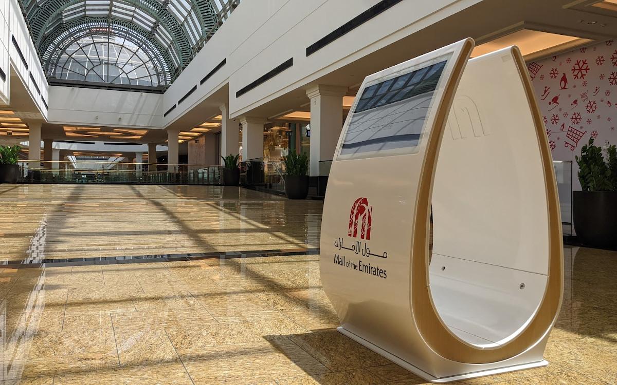 Neue Digital Signage Kiosk in der Mall of Emirates (Foto: invidis)