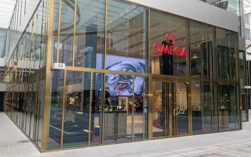 Omega Flagship-Store mit LED-Wall (Foto: invidis)