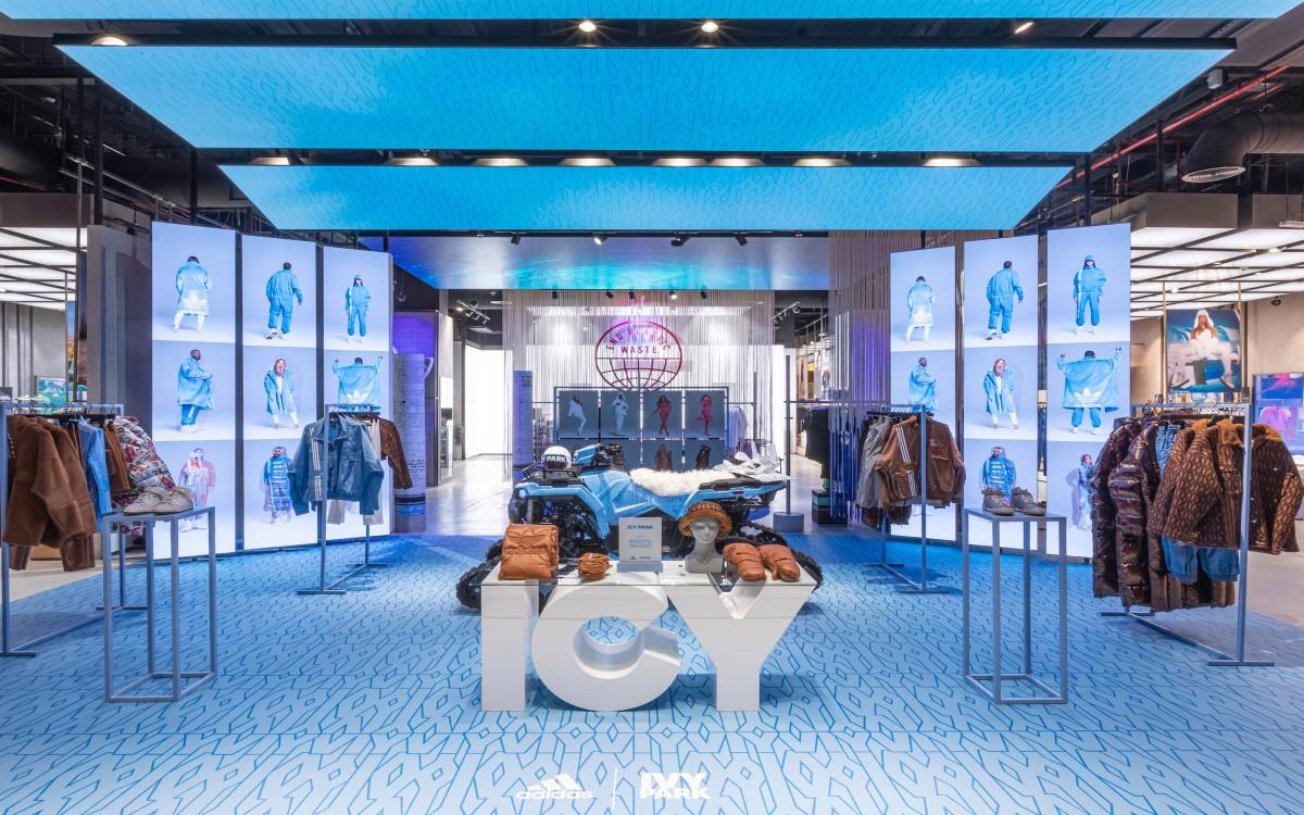 Digital trifft Analog – Der Adidas Flagshipstore in Dubai ist ein Highlight in Sachen Design, Smart-Retail und Digital Signage (Foto: Adidas)