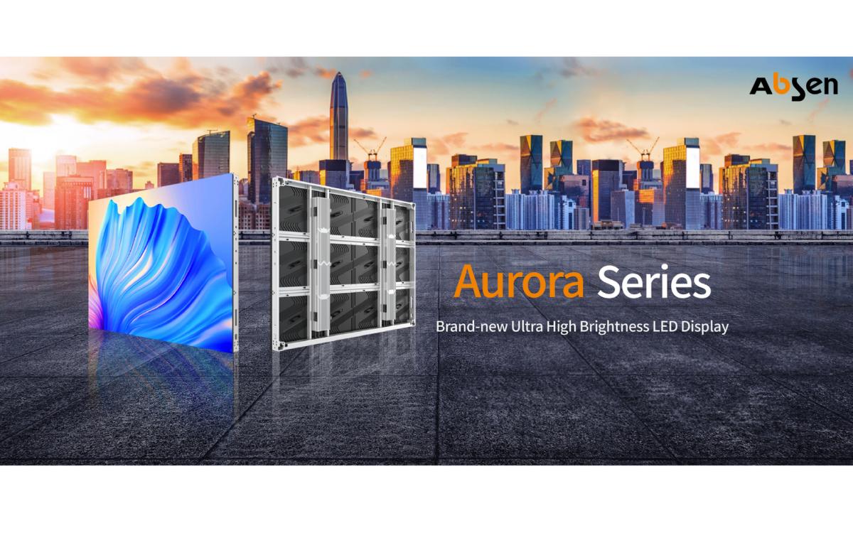Absen stellt mit Aurora eine neue High Brightness LED-Serie für DooH-Installationen vor (Foto: Absen)