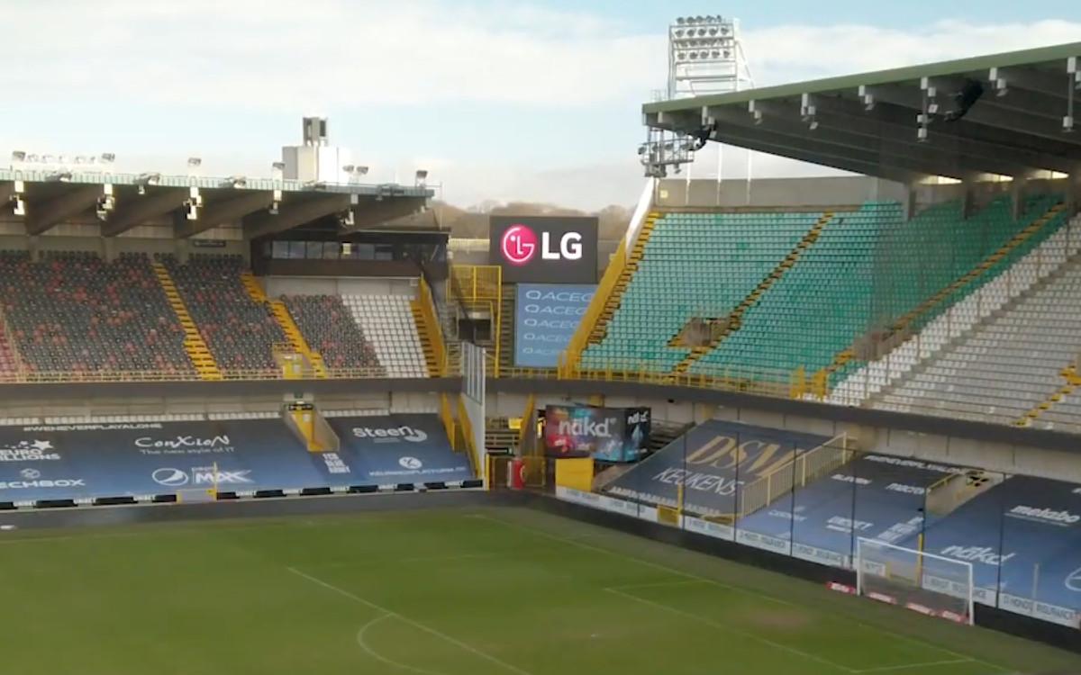 LED-Videowall im Jan-Breydel-Stadion (Foto: Screenshot)