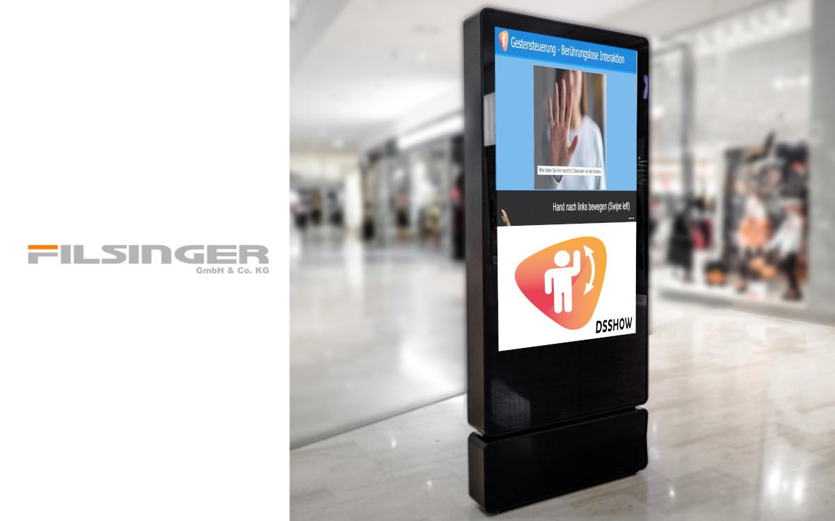 Die Version 2.2.5 von DSSHOW unterstützt jetzt auch Gestensteuerung via Webcam (Foto: filsinger.de GmbH & Co. KG)