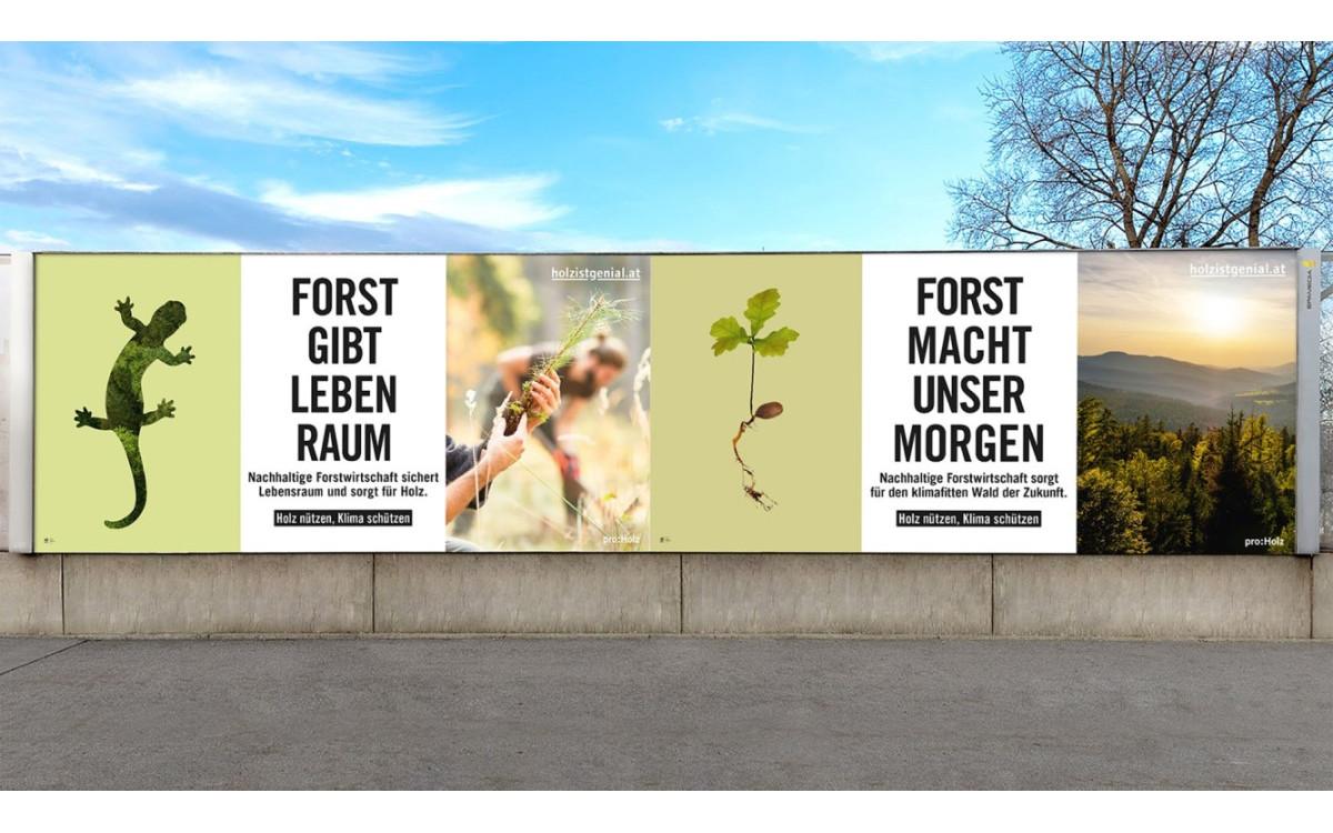 proHolz Austria wirbt bei Epamedia für Holz als klimafreundlichem Rohstoff (Foto: Epamedia)
