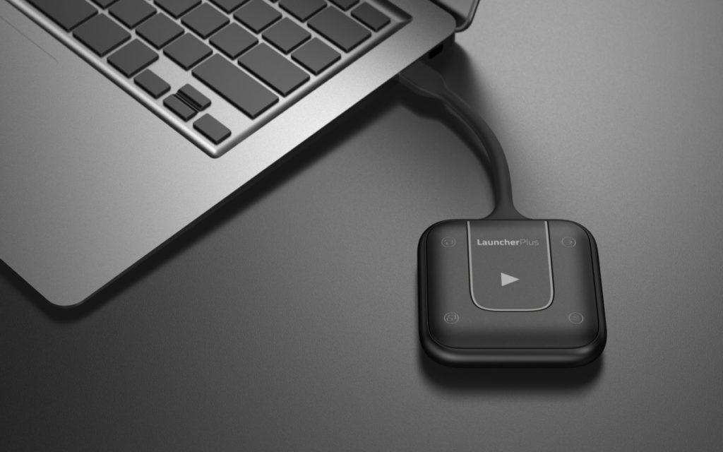 Der neue USB-Touch-Transmitter LauncherPlus passt an jeden Laptop (Foto: Vivitek)