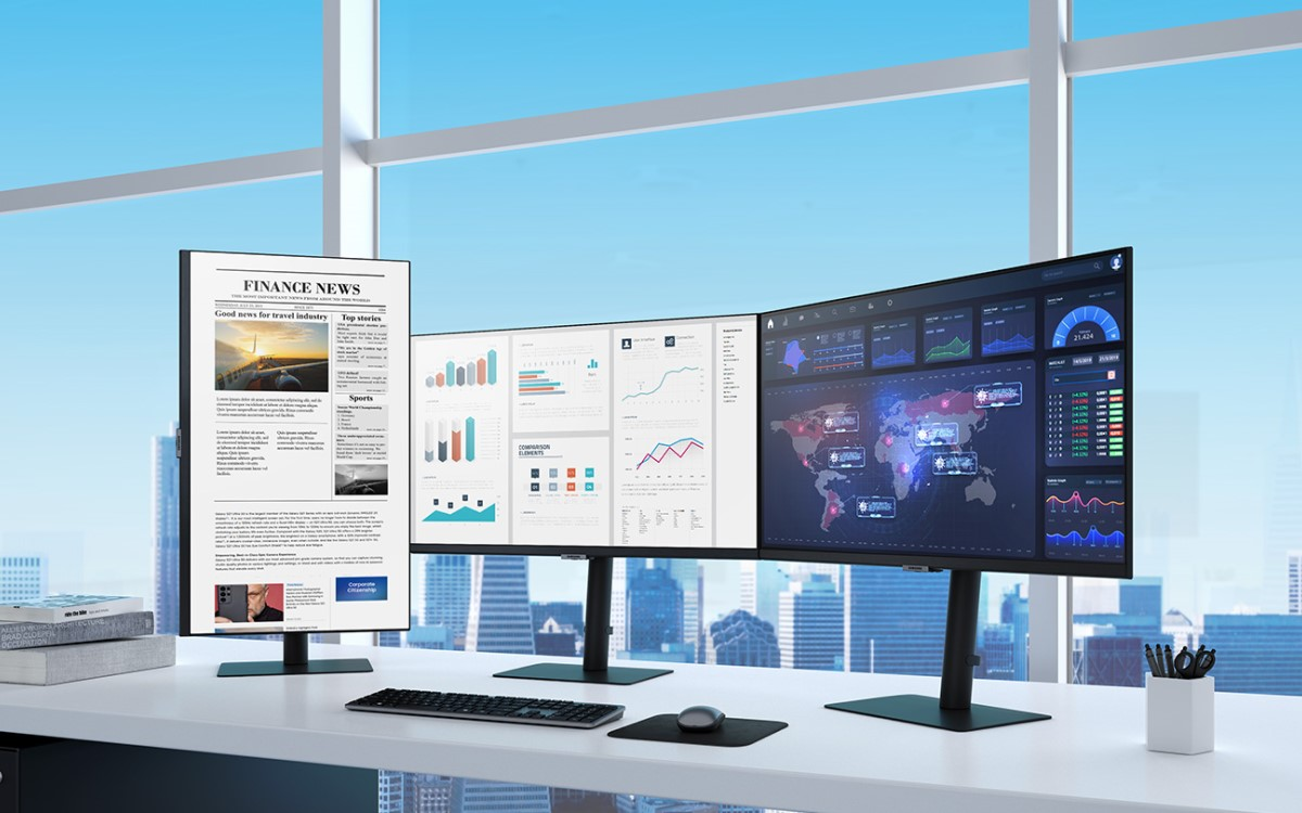 Monitore für die flexible Arbeitswelt – Samsung launcht neues Lineup für das Büro und Homeoffice (Foto: Samsung)