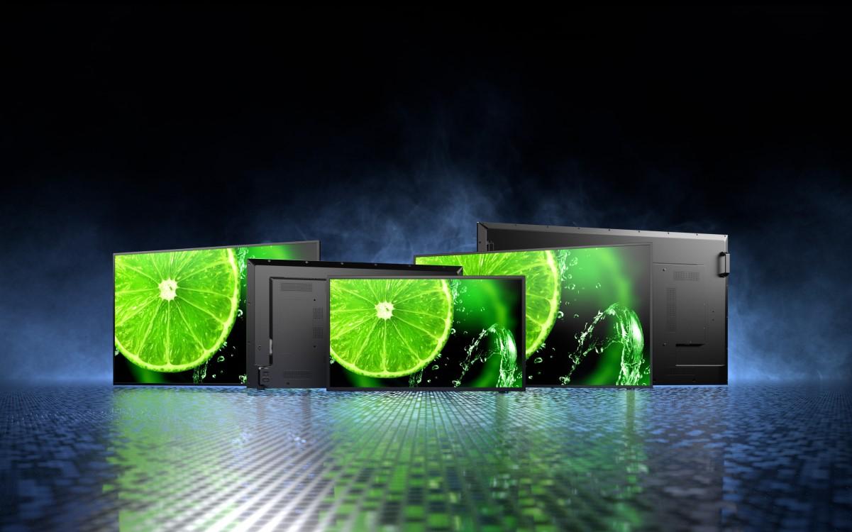 Sharp/NEC bringt die neueste LFD-Generation seiner E-Serie für benutzer- und kostenfreundliche Digital Signage auf den Markt (Foto: Sharp/NEC)