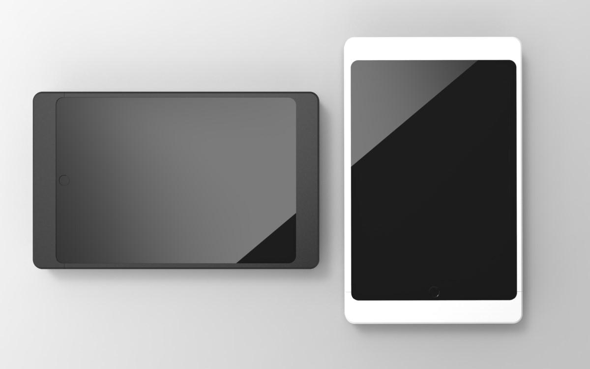 """Das savepad NOVA in schwarz oder weiß kann aktuell die 10,2""""/10,5""""/10,9""""/11"""" iPads von Apple aufnehmen (Foto: Werkmedia Systems)"""