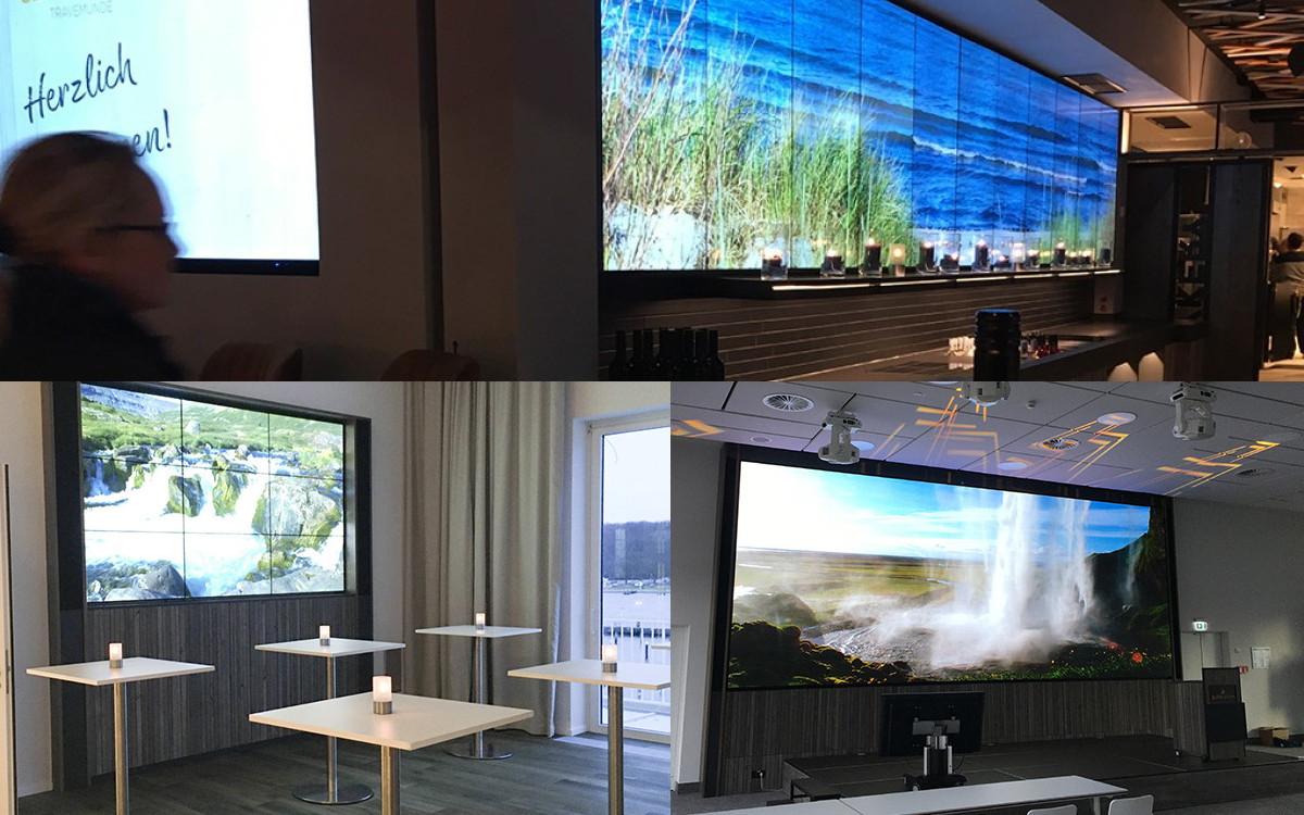 Das Hotel SlowDown in Travemünde bietet Entspannung und modernstes Multimedia mit Digital Signage von Sharp/NEC (Foto: Sharp/NEC)