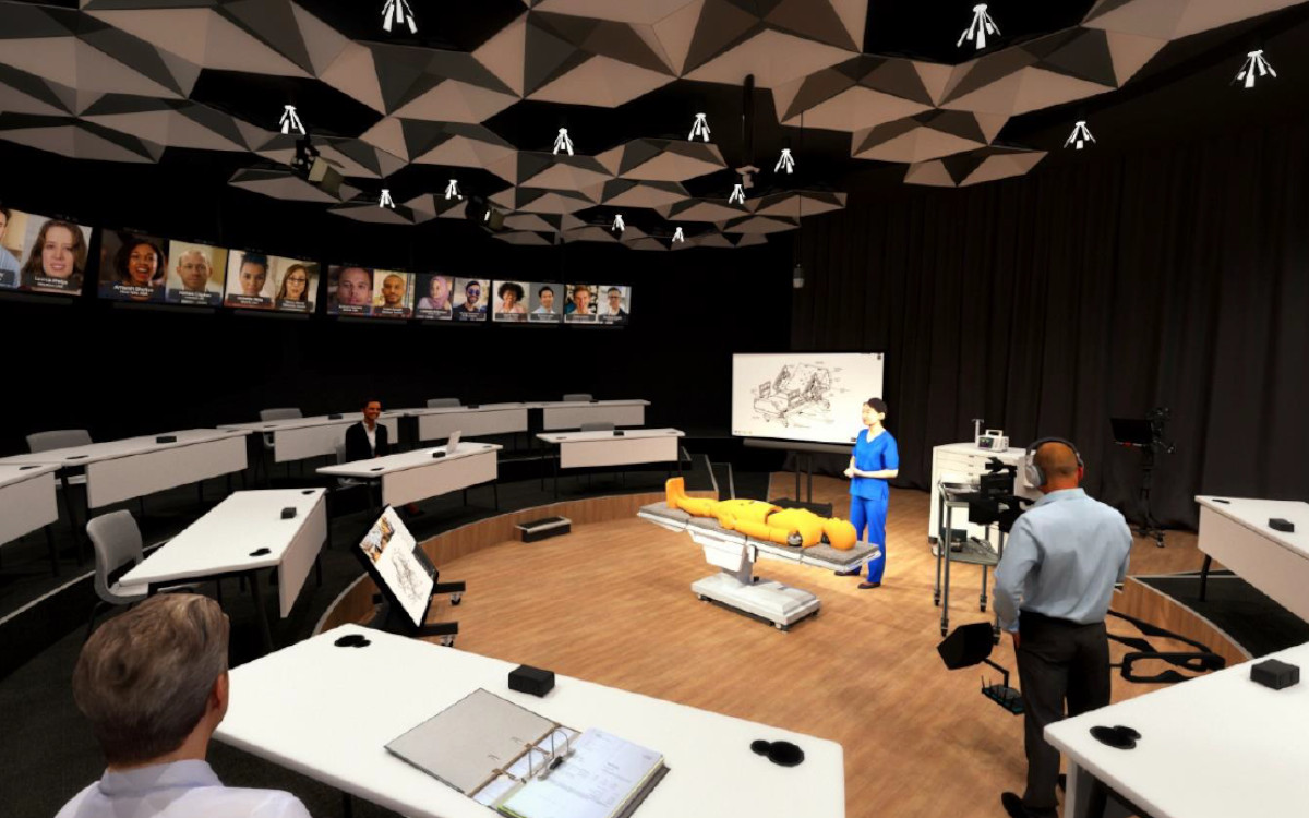 Der X2O Collaboration Room bei TransMedics verbindet Ärzte für Schulungen zu Organtransplantationen weltweit (Foto: X2O Media)