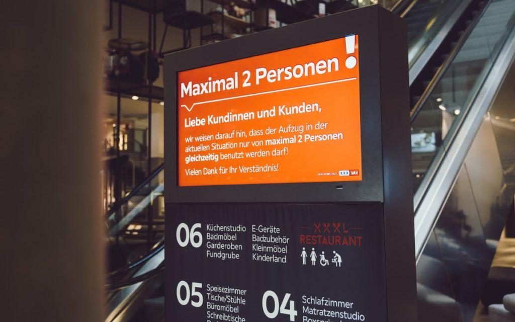 XXXLutz-Gruppe setzt auf kompas Digital Signage (Foto: Dimedis)