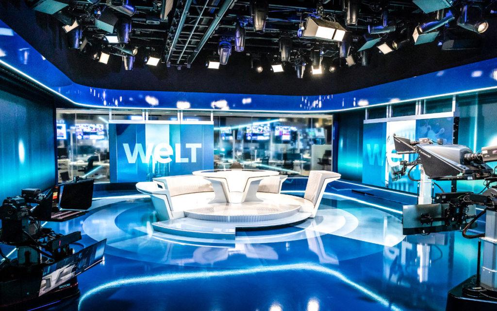 Neue Welt-Studio mit viel LED (Foto: N24Welt)