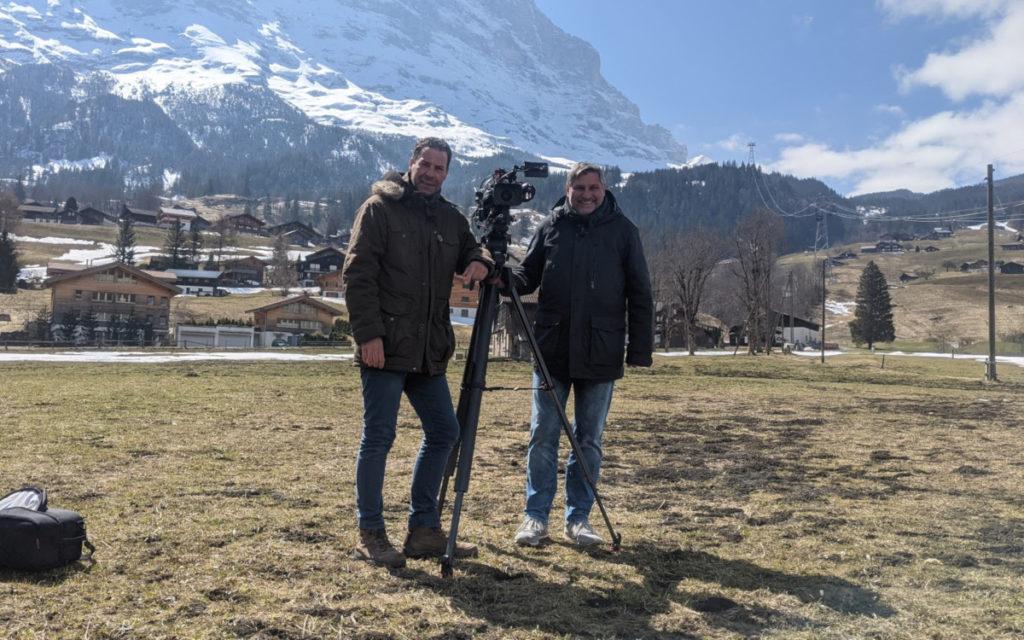 invidisXworld Produktionscrew in Grindelwald (Foto: invidis)