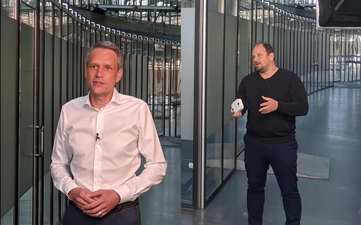 Xovis CEO Andreas Fähndrich und CPO/Gründer Christian Studer (Foto: invidis)