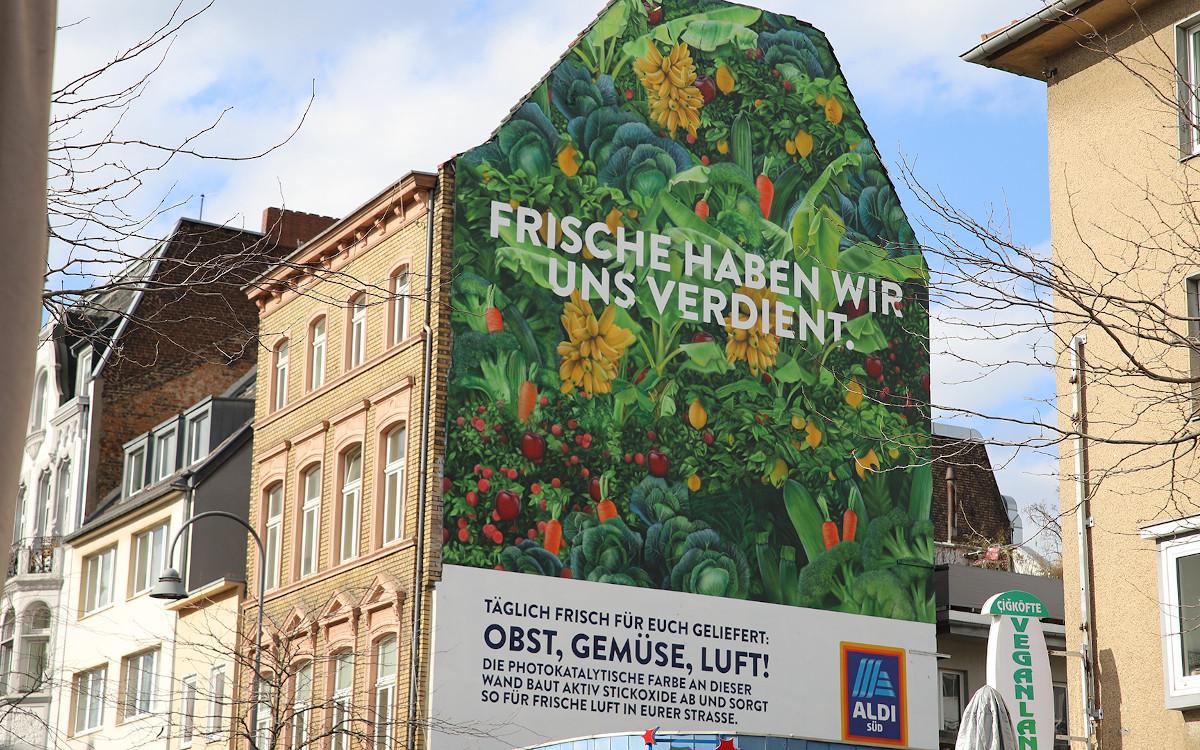 Aldi Süd klimapositives Mural (Foto: Aldi Süd)