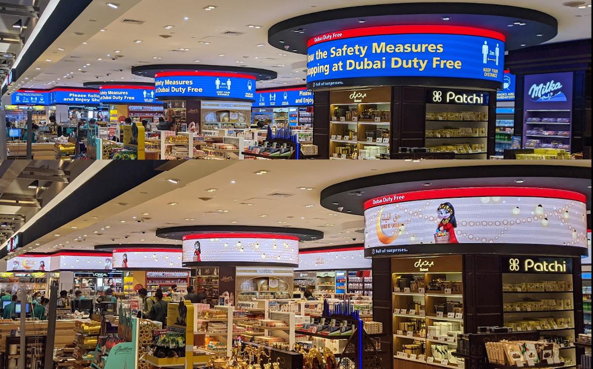 Dubai Duty Free nutzt Digital Sigange für Hinweise und Promotion (Foto: invidis)
