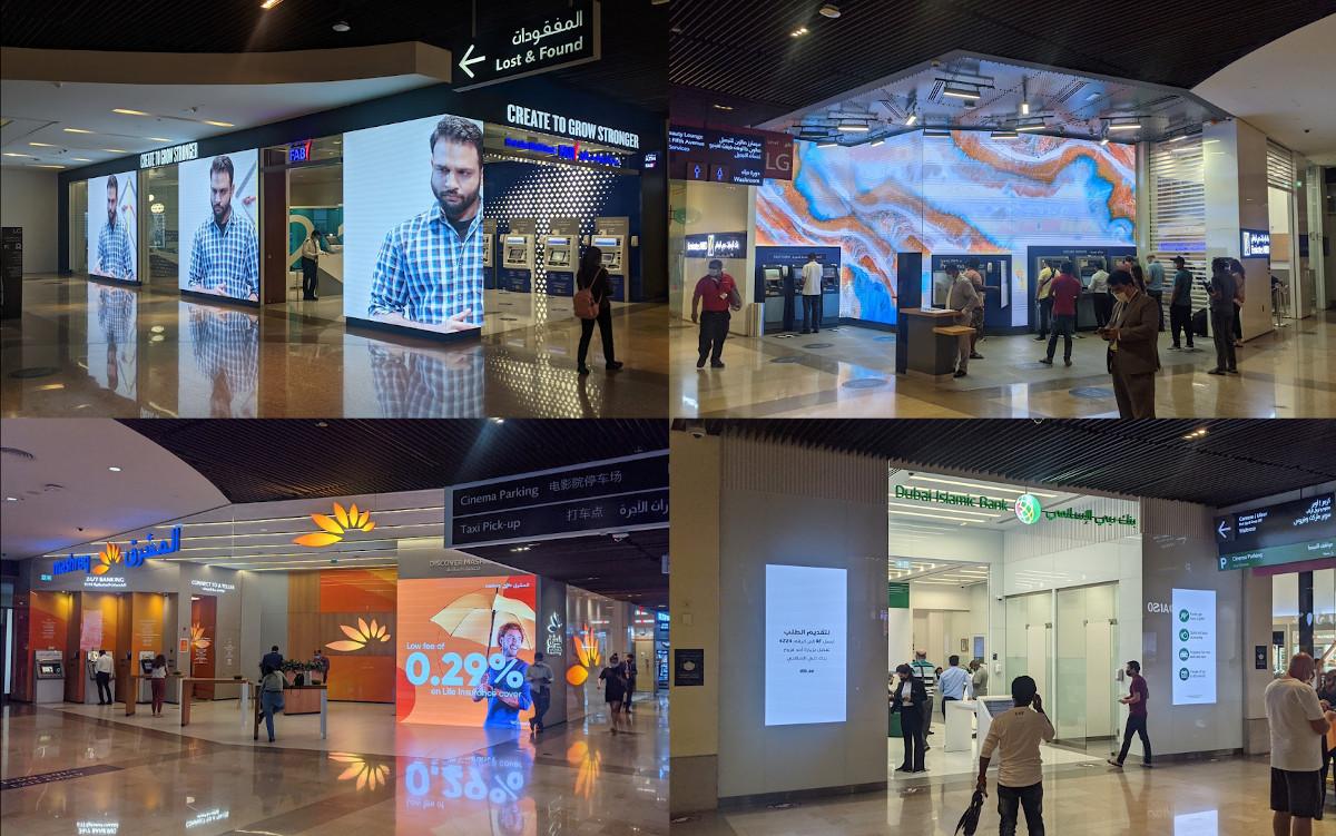 Vier Banken - vier Digital Signage Konzepte (Fotos: invidis)