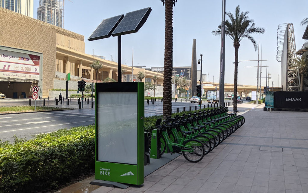 Dockingstation für Miet-eBikes in Dubai (Foto: invidis)