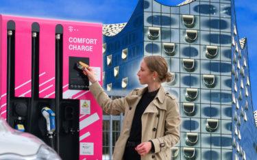 Deutsche Telekom setzt auf EV-Ladesäulen für Taxiunternehmen (Foto: Telekom)