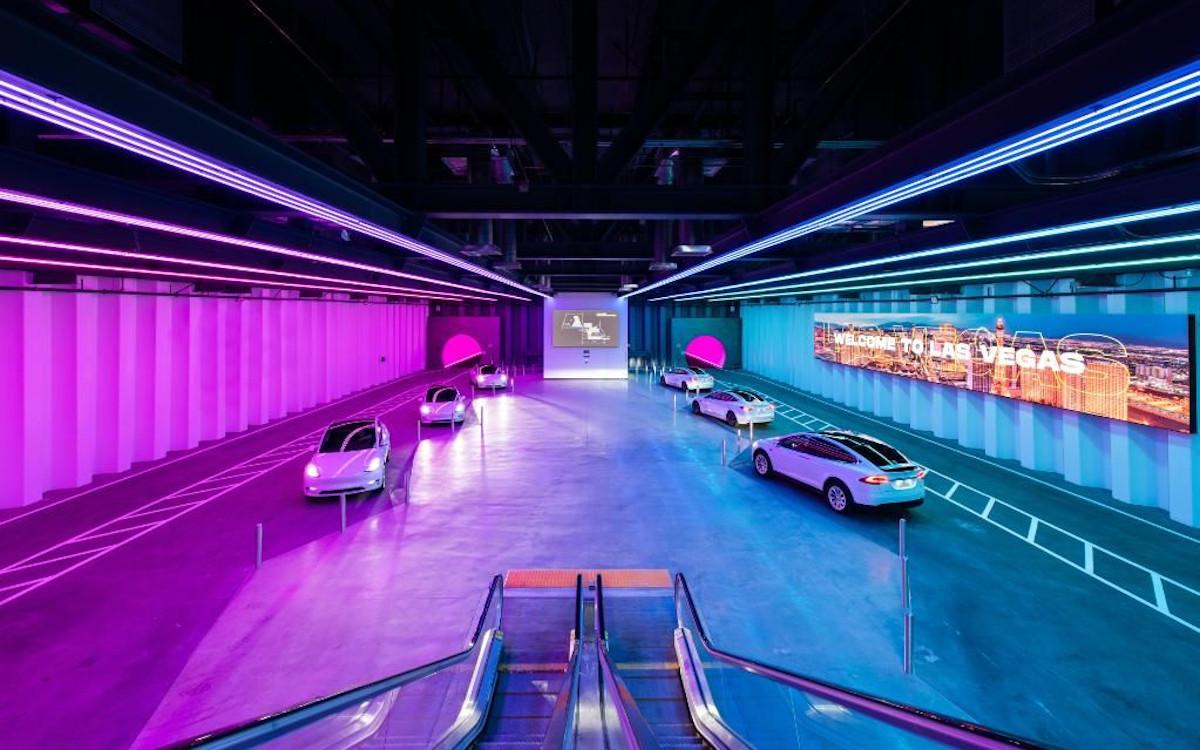 Tesla Tunnel Transportsystem in Las Vegas (Foto: LVCVA)