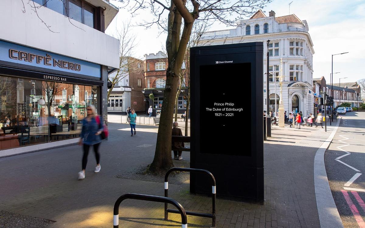Britische DooH-Netzwerke gedenken an Prinz Philip (Foto: Clear Clhannel)