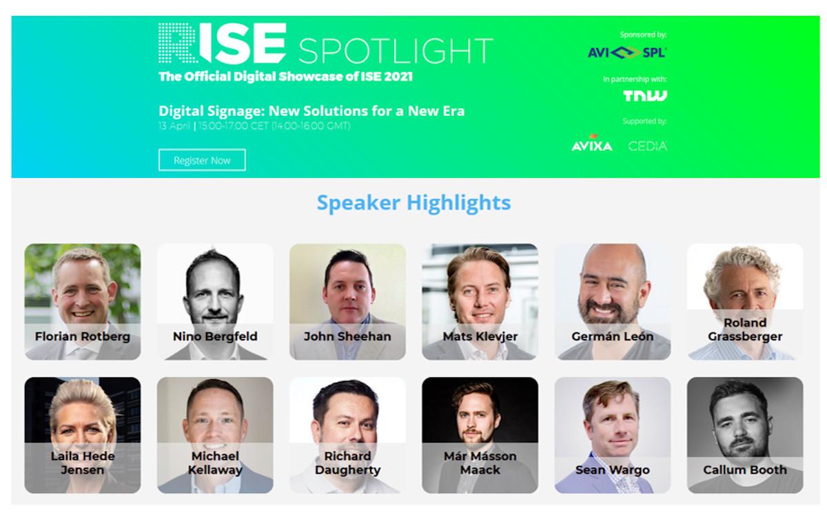 RISE Spotlight Digital Signage (Foto: ISE)