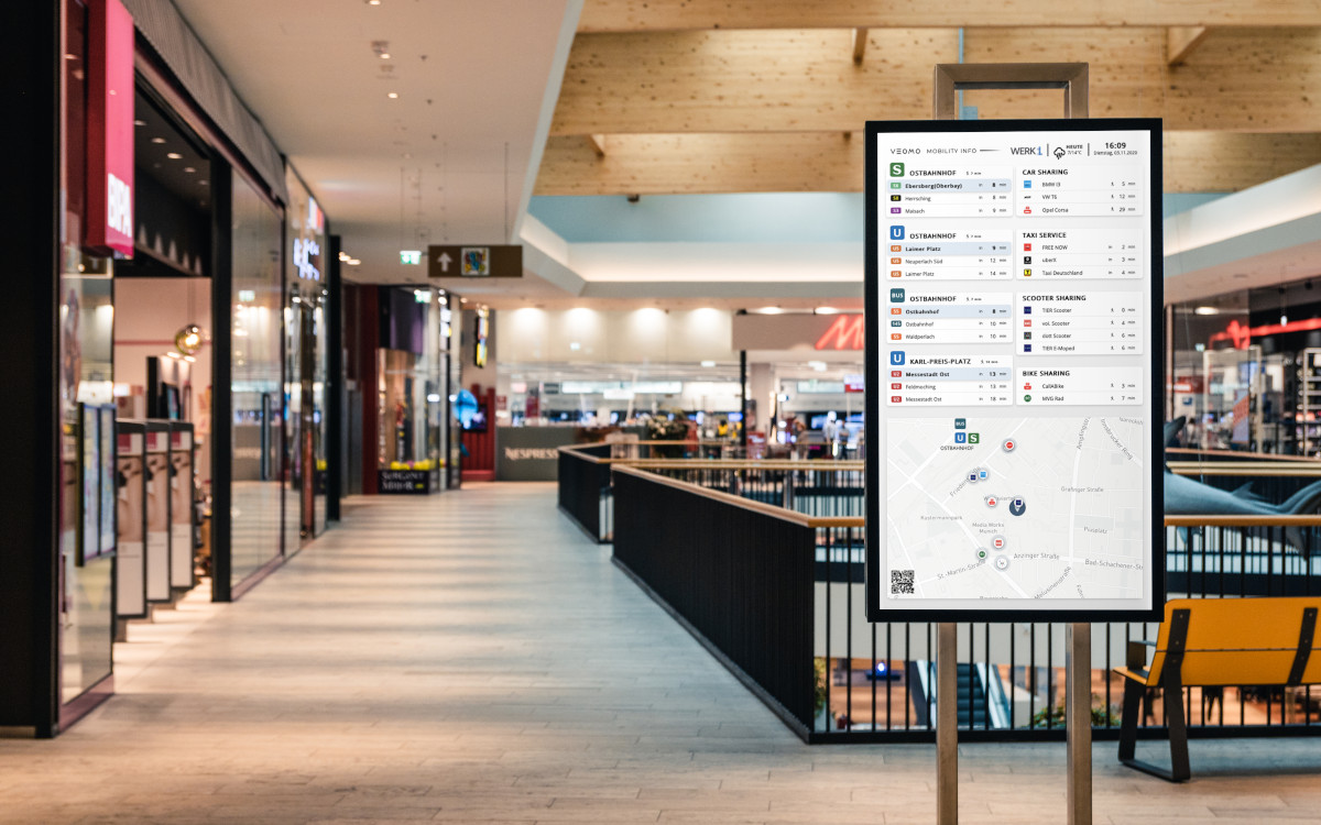 Veomo Digital Signage in Shopping Mall (Foto: Veomo)