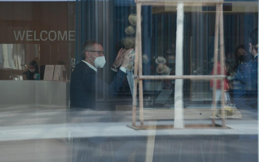Dreharbeiten bei Credit Suisse in Zürich (Foto: invidis)