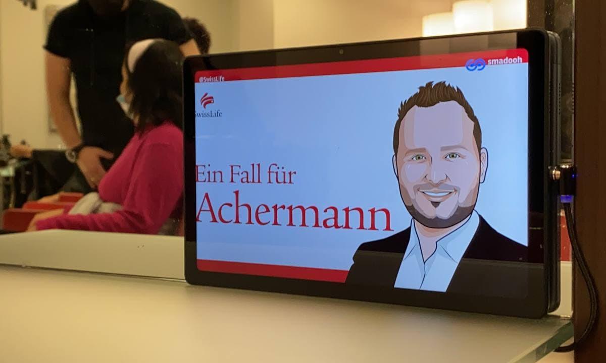 Swiss Life Kampagne in Frisör-Salons in Zürich (Foto: Smadooh)