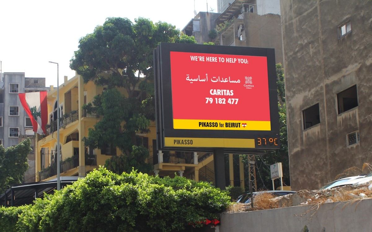 Jetzt auch programmatisch bei BroadSign Reach buchbar: DooH von Pikasso in Beirut (Foto: Pikasso)