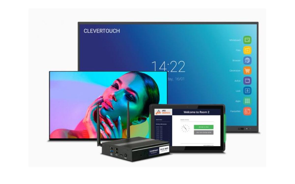 ClevertouchLive verbindet das Digital Signage-Portfolio des Herstellers auf einer einzigen Content-Management-Plattform (Foto: Clevertouch)