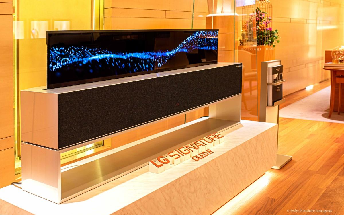 LG OLED R bei BVLGARI (Foto: LG, Evelyn Kutschera/luna agency)