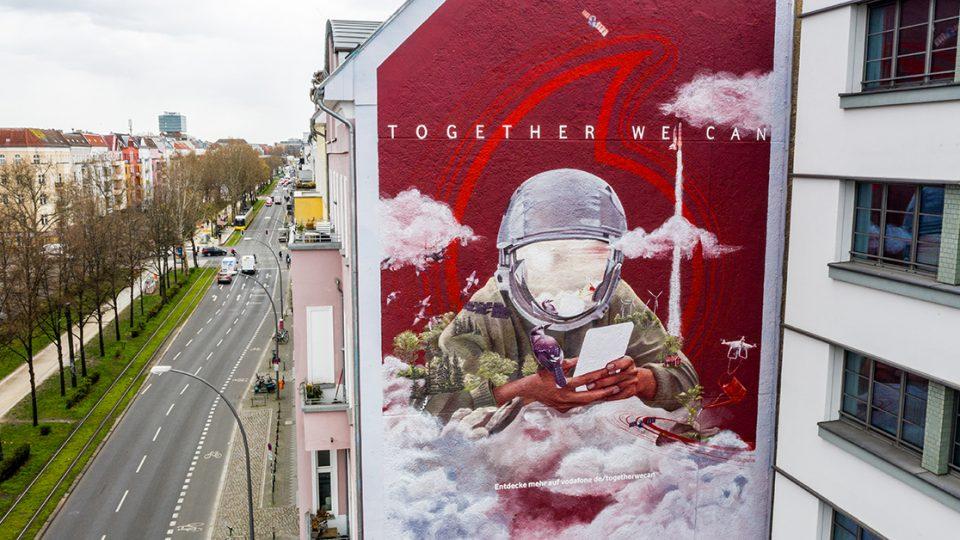 Vodafone Mural in Berlin (Foto: Vodafone)