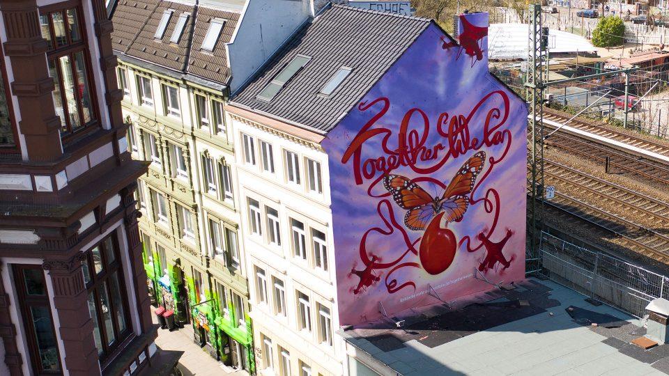 Vodafone Mural in Hamburg (Foto: Vodafone)