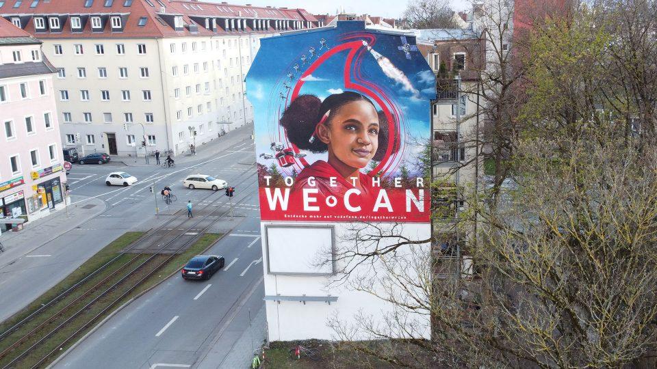 Vodafone Mural in München (Foto: Vodafone)
