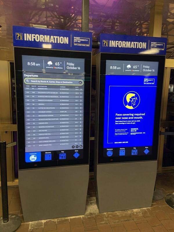 USSI Global und GDS bringen Touchscreen-Interaktivität in den meistfrequentierten Busbahnhof der Welt in Manhattan (Foto: USSI Global)