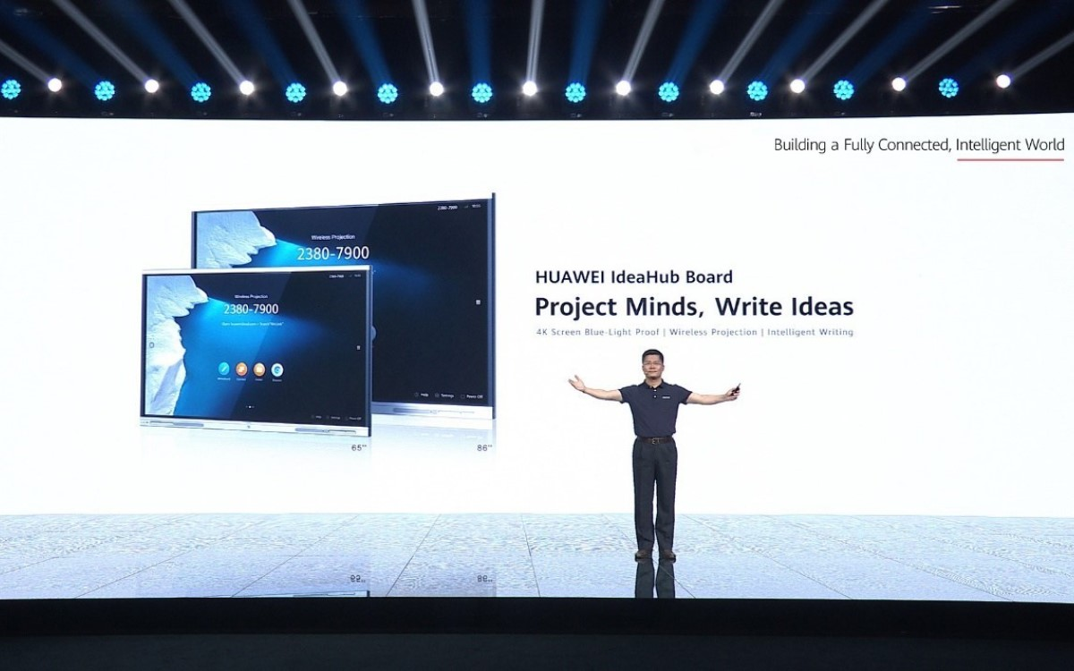 PAN Yong, VP von Huawei Intelligent Vision & Collaboration Product & Solution Sales Dept, beim Launch des IdeaHub Board (Foto: Huawei)