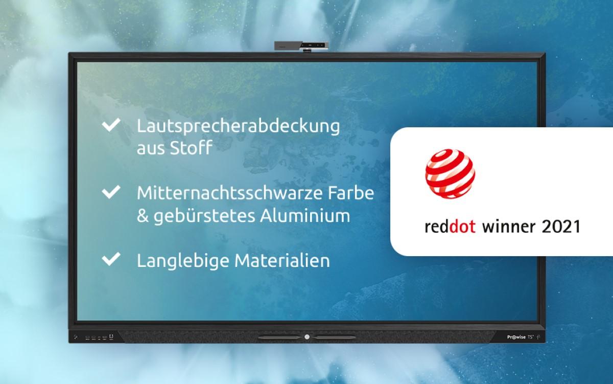Der Touchscreen Ten von Prowise wurde mit einem Red Dot Award für Produktdesign ausgezeichnet (Foto: Prowise)