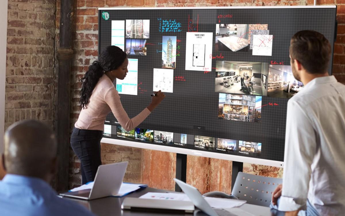 Optoma bündelt die Reactiv SUITE von Vizetto mit seinen interaktiven Displays für Bildung und Unternehmen (Foto: Optoma)