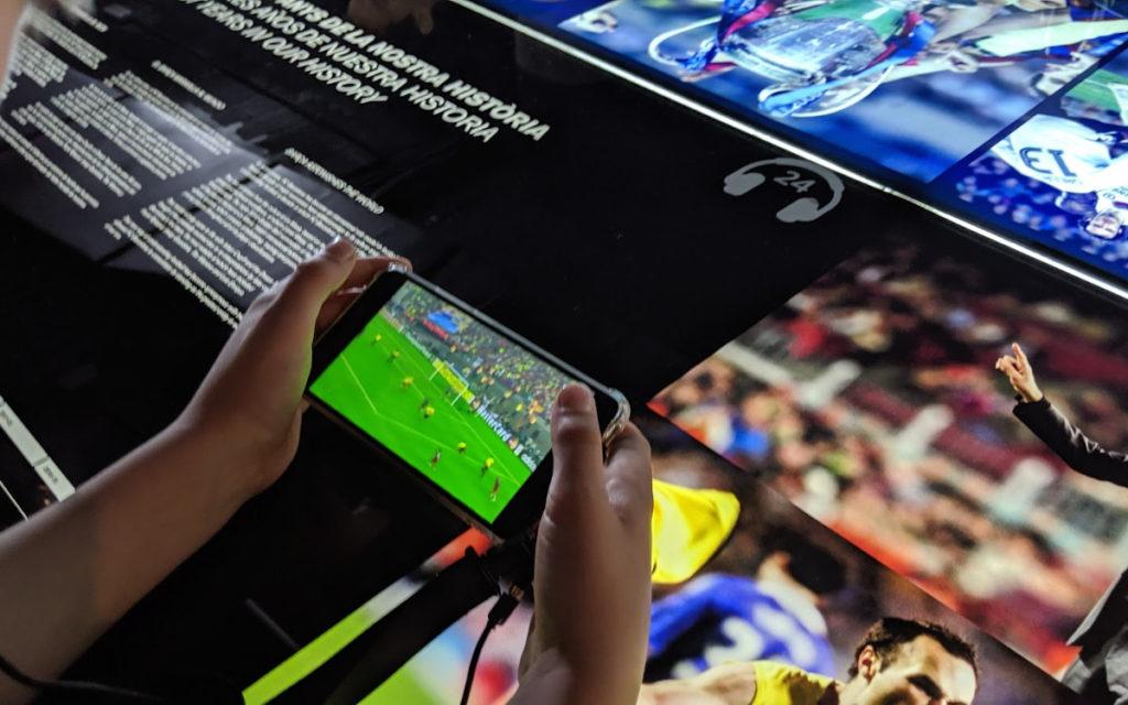 Digital Signage im FC Barcelona Museum (Foto: invidis)