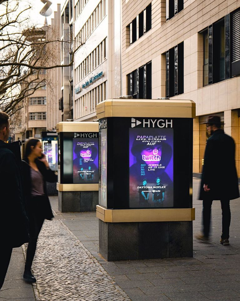 Twitch-Kampagne bei Hygh (Foto: Hygh)