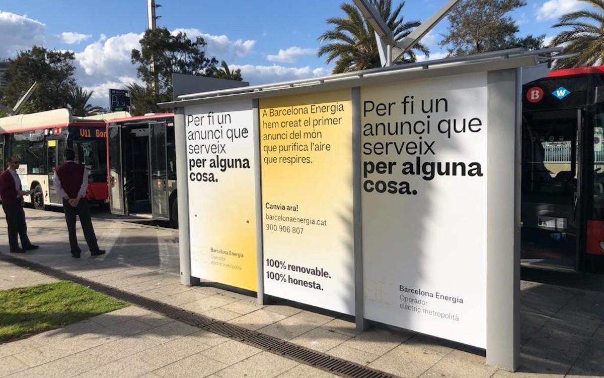 DooH Luftreiniger in Barcelona (Foto: BCN Energia)