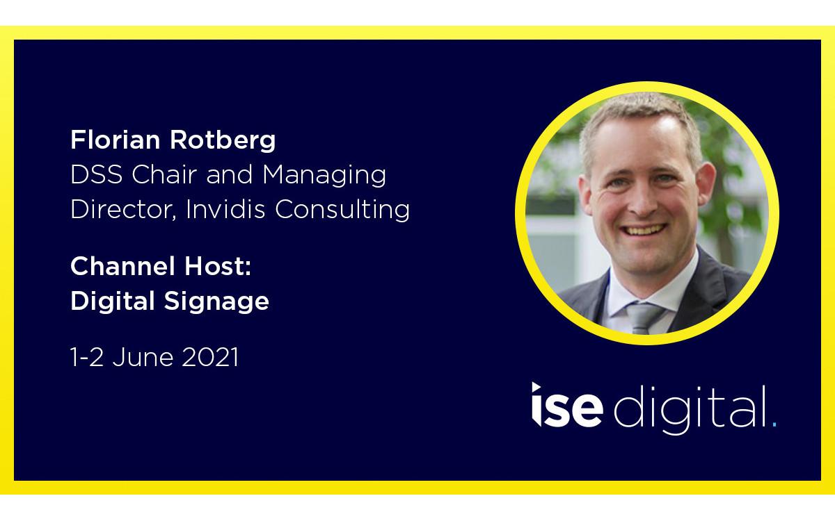 Der ISE Digital 2021 Digital Signge Channel wird moderiert von invidis (Foto: ISE)