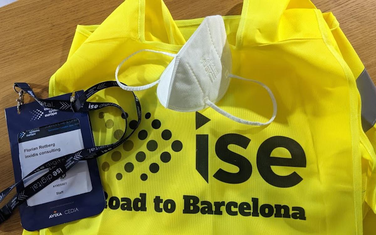 Ohne Badge, Maske, Coronatest und Ausweis gibt es keinen Zutritt zur ISE (Foto: invidis)